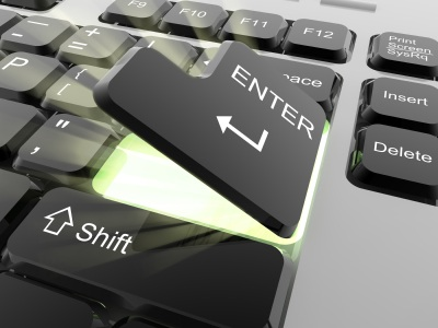 Internet Business Keyboard Enter Key