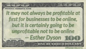 Esther Dyson Profitable Businesses Online