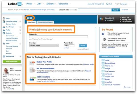 LinkedIn Features Online Resumes & Professional Networking Connections