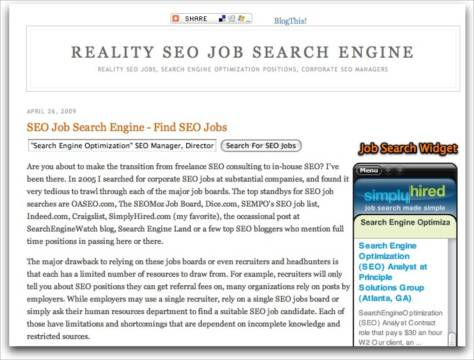 SEO Job Search Engine