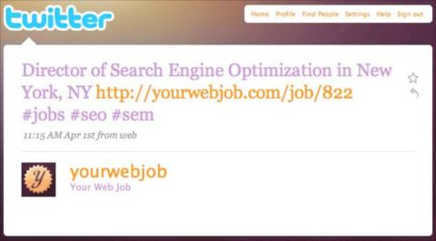 Plum Jobs can be found using Twitter Profiles of recruiters