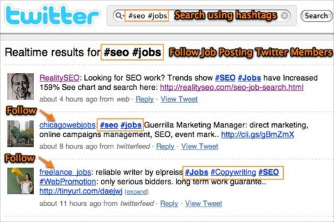 SEO Job Search on Twitter