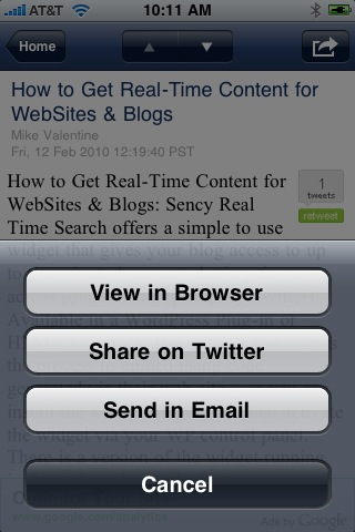 AppMakr Twitter Functionality built-in