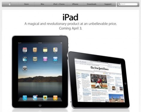 Apple iPad Release April 3rd