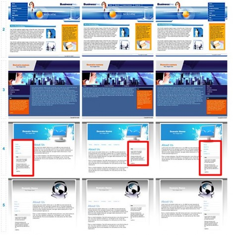DotEasy Free Web Builder Template Choices in Business category