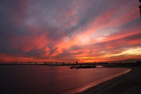 Sunrise Long Beach Harbor
