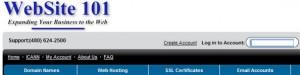 WebSite101 Domain Name Management