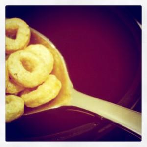 Honey Nut Cheerios in a Spoon