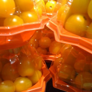 Packaged Yellow Tomatoes